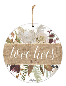 Natives Love Lives Hanging Tin Sign 30cm By Kelly Lane Pazaz Online