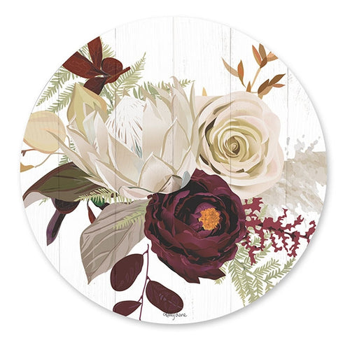 Natives Red Rose Round Placemat Set of 6 33cm  By Kelly Lane Pazaz Online