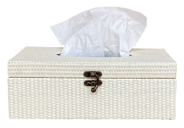 Natives White Tissue Box 25x13x9 cm By Kelly Lane Pazaz Online