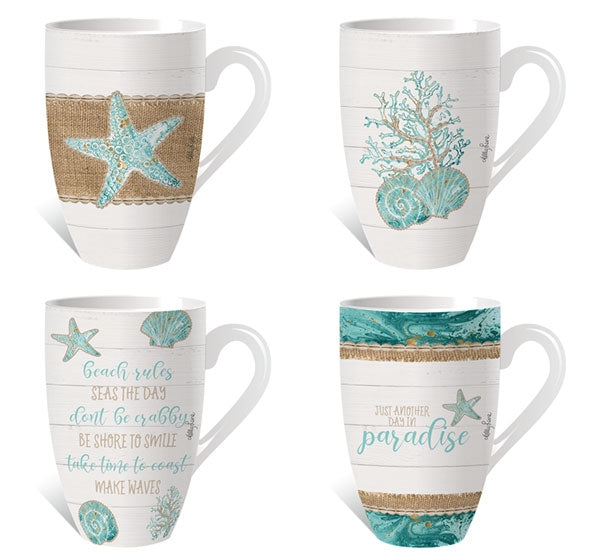 Reef Assorted Mug Pack 12pcs By Kelly Lane Pazaz Online