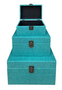 Reef Boxes Set of  3 L28x20x15cm M23x16x12cm  S18x12x9cm By Kelly Lane Pazaz Online