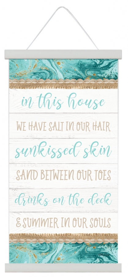 Reef House Canvas Scroll 30x60cm By Kelly Lane Pazaz Online