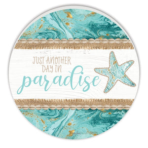 Reef Paradise Round Timber Wall Art 48cm By Kelly Lane Pazaz Online