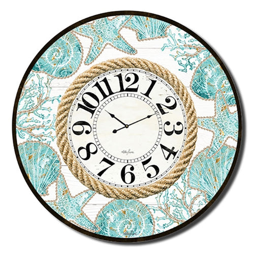Reef Pattern Clock 60cm By Kelly Lane Pazaz Online