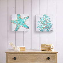 Load image into Gallery viewer, Reef Starfish Canvas 20x20cm By Kelly Lane Pazaz Online