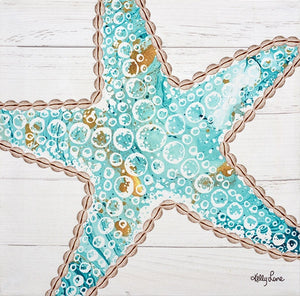 Reef Starfish Canvas 20x20cm By Kelly Lane Pazaz Online