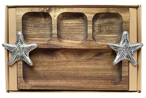 Reef Starfish Platter Divided 35x22x4 cm By Kelly Lane Pazaz Online
