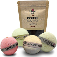 Load image into Gallery viewer, Revive Body & Skin Pack with Exfoliating Body Scrub & Bath Bomb Moisturising Soaks Gift Set