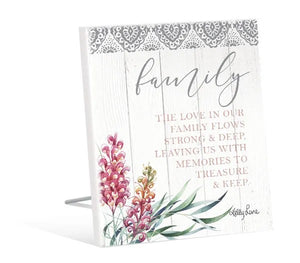 Sentiment Plaque12x15 3D Protea STRONG By Kelly Lane Pazaz Online