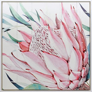 Shadow Painting 100x100 Protea CLOSE UP By Kelly Lane Pazaz Online