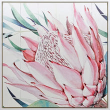 Load image into Gallery viewer, Shadow Painting 100x100 Protea CLOSE UP By Kelly Lane Pazaz Online