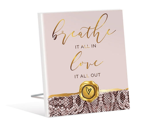 Vogue 3D Breath Sentiment Plaque 12x15 cm By Kelly Lane Pazaz Online