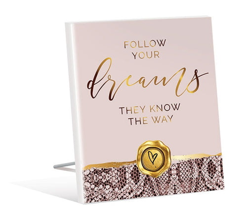 Vogue 3D Dream Sentiment Plaque 12x15 cm By Kelly Lane Pazaz Online