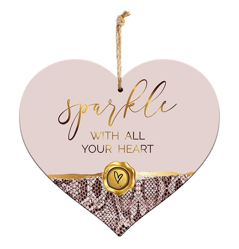 Vogue 3D Heart Sentiment Heart Plaque 15x17 cm By Kelly Lane Pazaz Online
