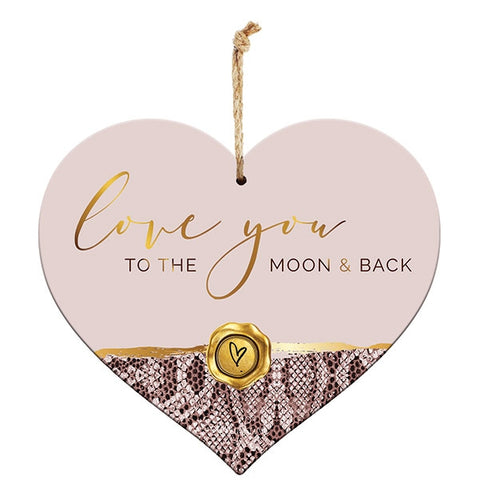 Vogue 3D Moon Sentiment Heart 15x17 cm By Kelly Lane Pazaz Online