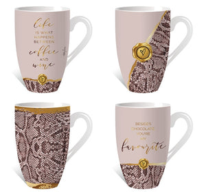 Vogue Assorted Mug Pack12pcs By Kelly Lane Pazaz Online