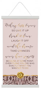 Vogue Chances Canvas Scroll 30x60 cm By Kelly Lane Pazaz Online