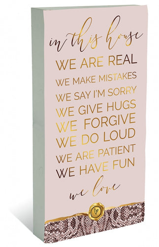 Vogue In The House Plaque Block 40x80 cm By Kelly Lane Pazaz Online