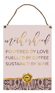 Vogue Mother Hanging Tin Sign 30x40 cm  By Kelly Lane Pazaz Online
