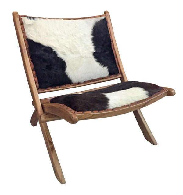 Vogue Natural Hide Chair Folding 80x80x80 cm By Kelly Lane Pazaz Online