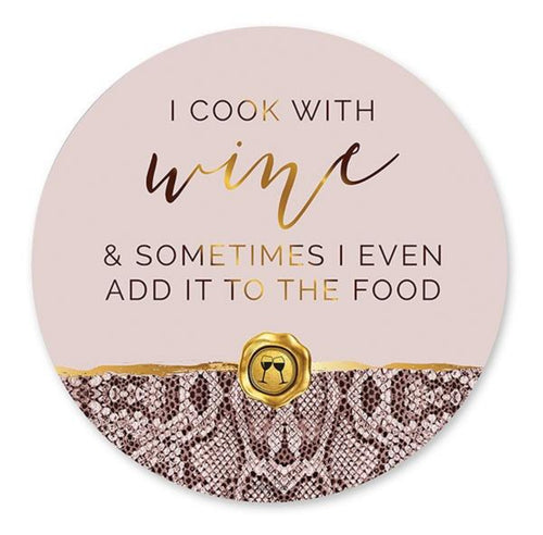Vogue Wine Round Placemat Set of 6 By Kelly Lane Pazaz Online
