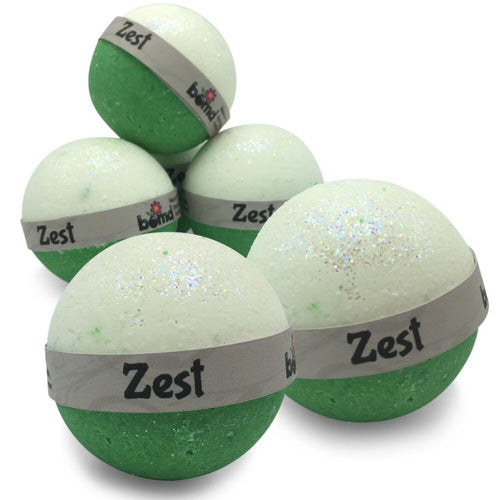 Zest Citrus Burst Bubble Bath Bomb set of 6 Fragrant Natural Bath Fizzers