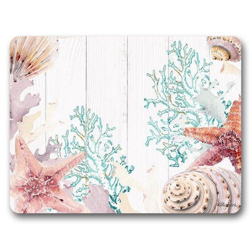 Placemat S/6 29x21.5 Starfish CORAL