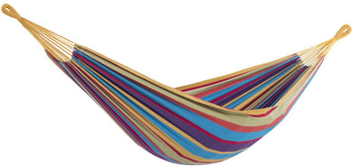 Raw Cotton Tropical Deluxe Brazillian Double Hammock