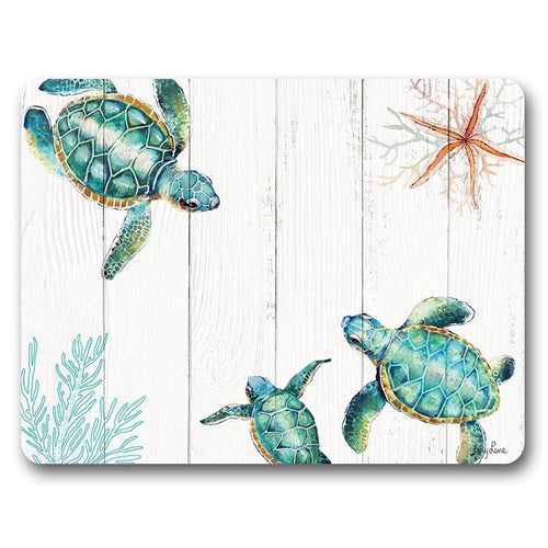 Placemat S/6 34x26.5 Turtles THREE