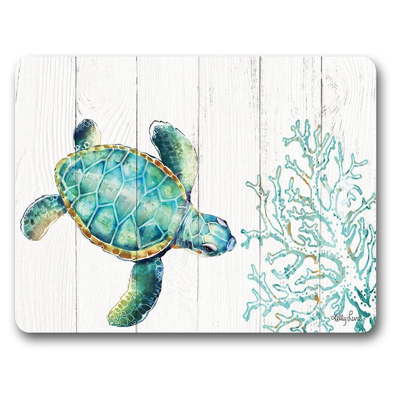 Placemat S/6 29x21.5 Turtles PATTERN
