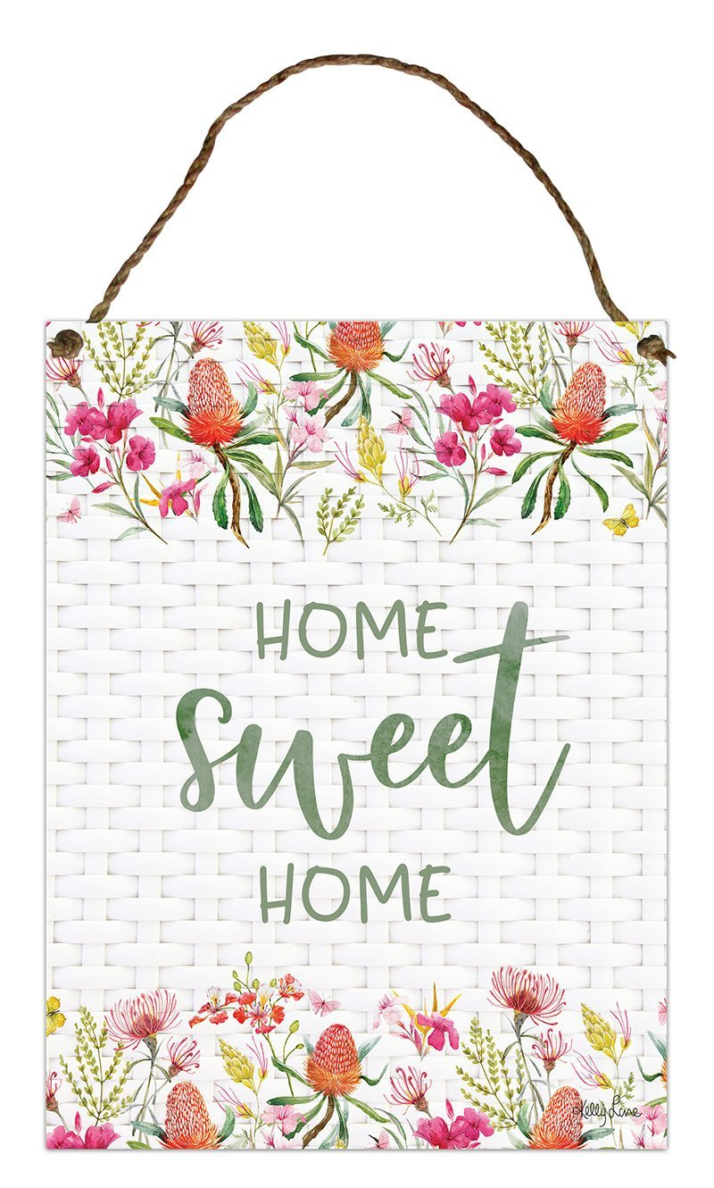 Hanging Tin Sign 30x40cm Blossom HOME