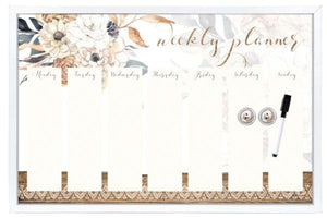 Barn Owl Print Whiteboard Weekly Planner with Marker Pen