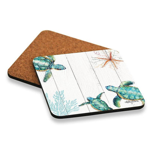 Coaster S/6 10x10 Turtles THREE