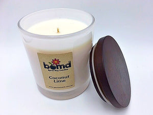 Coconut Lime Tropical Scented 100% Soy Candle with Cotton  Wick