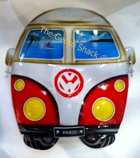 Kombi VW Red Wall Decor