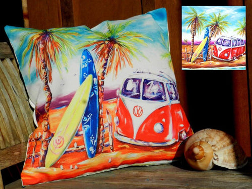 Surfs Up - VW Kombi Cushion Cover 40 x 40cm
