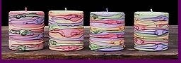Marbled - The Foodies Candle Collection Set of 4