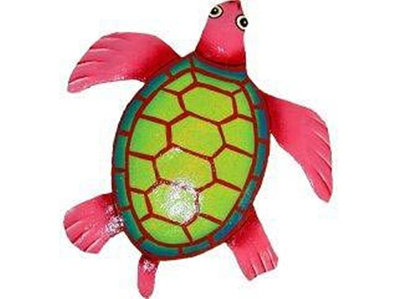 Happy Little Tropical Turtle Pink
