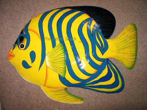 X Large Tropical Fish Recycled Metal Wall Art  - 71cm