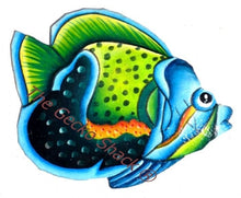 Load image into Gallery viewer, b. Large Tropical Coral Reef Fish 45cm Green