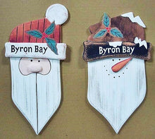Load image into Gallery viewer, Wooden SantaClause wall-door hanger 33cm