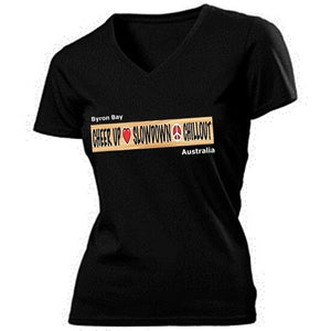 Ladies V neck Chill Out casual tee shirt