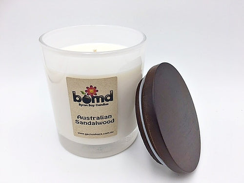 Australian Sandalwood Scented 100% Soy Candle with Cotton Wick
