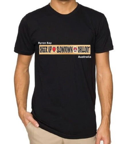 Mens Chill Out T Shirt  (The Iconic Byron Bay Sign)