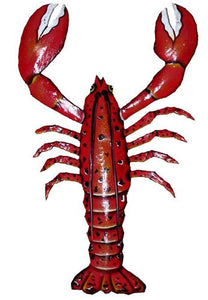 Lobster Red Crayfish Metal Wall Decor 20cm