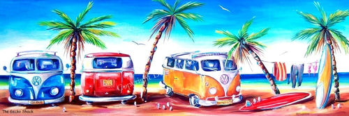 Kombi Klub VW Kombi Beach Scene 90cm - Made to Order - by Deb Broughton Australian Artist