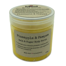 Load image into Gallery viewer, Pineapple & Papaya Sea Salt Coconut Oil with Vitamin E Summer Body Scrub