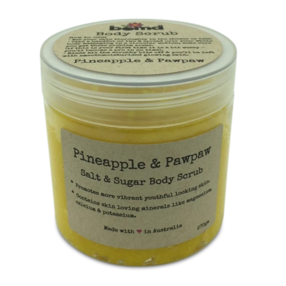 Pineapple & Papaya Sea Salt Coconut Oil with Vitamin E Summer Body Scrub