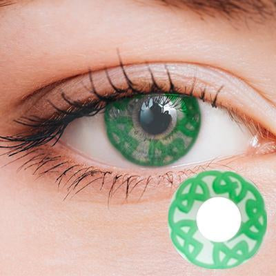 Abstract Green Yearly Cosplay Contact Lenses