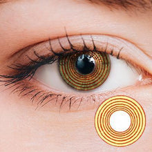 Load image into Gallery viewer, Rinnegan Yellow-Red Yearly Cosplay Contact Lenses